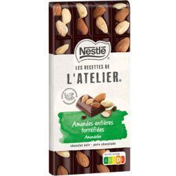 Nestlé Nestlé Grand Chocolat Les Recettes de l'Atelier - Chocolat noir amandes entières torréfiées la tablette de 170 g