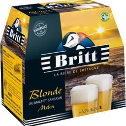 Britt Britt Bière blonde au malt et sarrasin Melen les 6 bouteilles de 25 cl