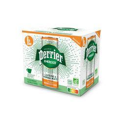 Perrier Perrier Energize - Boisson énergisante mandarine BIO le lot de 6 canettes de 33 cl -198cl