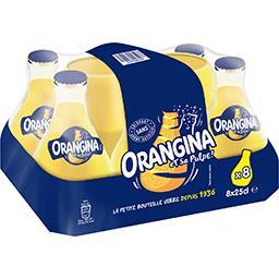 Orangina Orangina Soda aux fruits et sa pulpe les 8 bouteilles de 25 cl