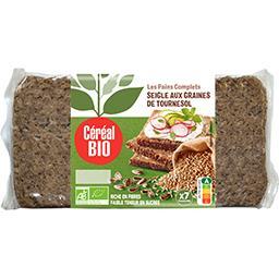 Céréal Bio Céréal Bio Pain complet de seigle aux graines de tournesol BIO le sachet de 7 tranches - 500 g