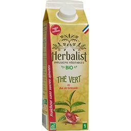 Herbalist Herbalist Boisson au Thé Vert Grenade Bio la brique de 1l