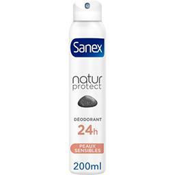 Sanex Sanex Natur Protect - Déodorant 24h peaux sensibles à la pierre d'alun l'atomiseur de 200 ml