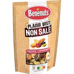 Bénénuts Bénénuts Amandes & cranberries Plaisir Brut non salé le sachet de 160 g