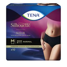Tena Tena Silhouette - Sous-vêtements taille basse M normal noir le paquet de 10