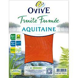 Ovive Ovive Truite fumée Aquitaine le paquet de 4 tranches - 120 g
