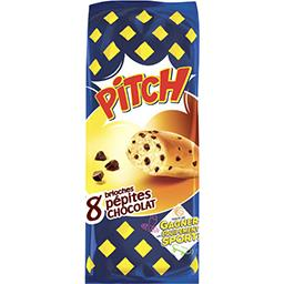 Pasquier Brioche Pasquier Pitch - Brioches pépites de chocolat les 8 brioches de 37,5 g