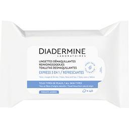 Diadermine Diadermine Lingettes démaquillantes express 3en1, visage-yeux le paquet de 40