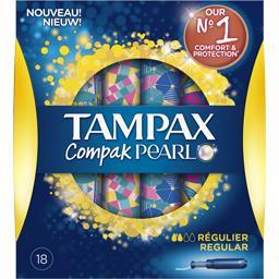 Tampax Tampax Pearl - Tampons régulier avec applicateur la boite de 18