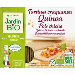 Jardin Bio Jardin bio Tartines craquantes quinoa pois chiche BIO les 2 sachets fraîcheurs de 75 g