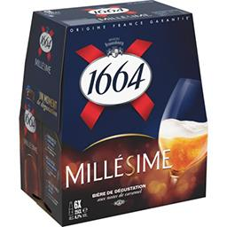 1664 1664 Millésime - Bière blonde de dégustation le pack de 6x25cl