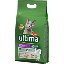Ultima Ultima croquettes pour chat stérilisé adulte saumon le sac de 3 kg
