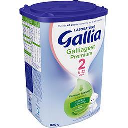 Lait bébé 2ème âge en poudre de 6 à Laboratoire Gallia Galliagest Premium