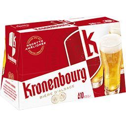 Kronenbourg Kronenbourg Bière blonde d'Alsace le pack de 10x25cl