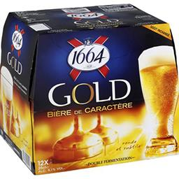 1664 1664 Gold - Bière blonde de caractère le pack de 12x25cl
