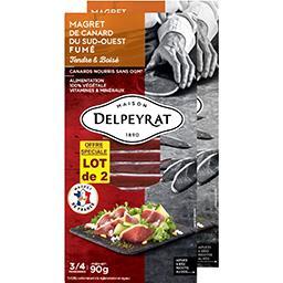 Delpeyrat Delpeyrat Magret de canard du Sud-ouest fumé le lot de 2 barquettes de 90 g