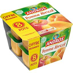 Andros Andros Dessert de pomme abricot les 8 pots de 100 g - Offre Découverte