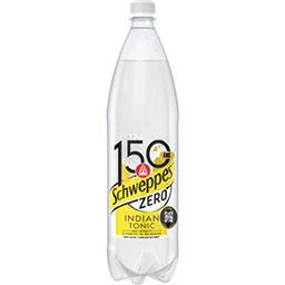 Schweppes Schweppes Indian Tonic - Soda zéro extrait d'écorces de quinquina la bouteille de 1,5 l