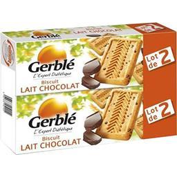 Gerblé Gerble Biscuits chocolat au lait le lot de 2 paquets de 230g - 460g
