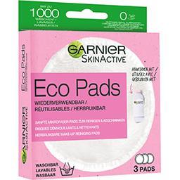Garnier Garnier Disques démaquillants & nettoyants réutilisables Eco Pads la boite de 3 disques