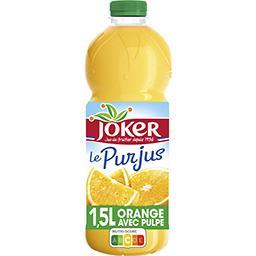 Joker Joker Le Pur Jus - Jus d'orange avec pulpe la bouteille de 1,5 l