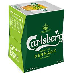 Carlsberg Carlsberg Bière blonde le pack de 6x25cl