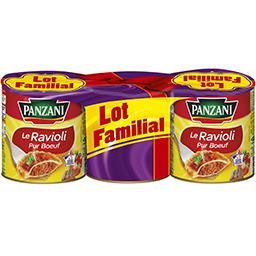 Panzani Panzani Le Ravioli pur bœuf les 3 boites de 800 g - Lot Familial