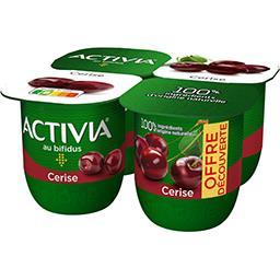 Danone Danone - Activia Lait fermenté cerise les 4 pots de 125 g - Offre Découverte