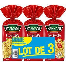 Panzani Panzani Farfalles Les 3 sachets de 500g - 1,5kg