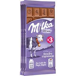 Milka Milka Chocolat au lait les 3 tablettes de 100 g