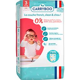 Carryboo Carryboo Couches non-irritantes motifs 'éléphants' T3 : 4-9 kg le paquet de 54