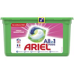Ariel Ariel Lessive en capsules All in 1 pods fresh sensations La boîte de 31 lavages