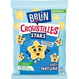 Belin Belin Croustilles - Biscuits apéritifs Stars goût nature le paquet de 90 g