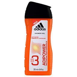 Adidas Adidas Gel douche 3en 1 Adipower le flacon de 250 ml