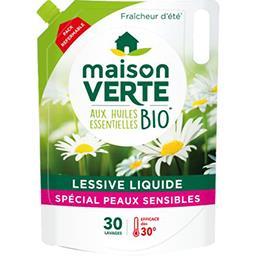 Maison Verte Maison Verte Recharge lessive liquide hypoallergénique fraîcheur d'été la recharge de 1,8 l