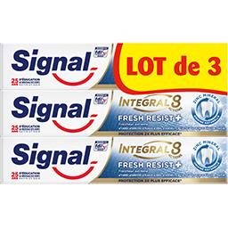 Signal Signal Integral 8 - dentifrice fresh resist plus le lot de 3 tubes de 75ml