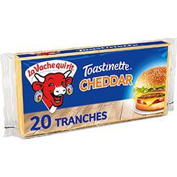 La vache qui rit La Vache qui rit Toastinette - Fromage cheddar fondu pour hamburger le paquet de 20 tranches - 340 g