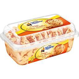 Nestlé La Laitière Crème glacée saveur crème brûlée éclats de nougatine le bac de 510 g