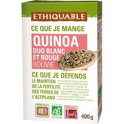 Ethiquable Ethiquable Quinoa duo blanc et rouge Bolivie BIO la boite de 400 g