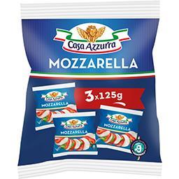 Casa Azzurra Casa azzurra Mozzarella les 3 fromages de 125 g net égoutté