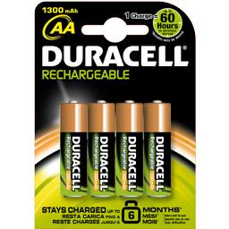 Duracell Duracell Stay charged 6 mois aa(lr06) 1300 mah le lot de 4