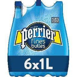 Perrier Perrier Eau gazeuse Fines Bulles les 6 bouteilles de 1 l