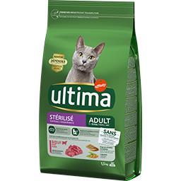Ultima Ultima croquettes pour chat stérilisé adulte bœuf le sac de 1,5 kg