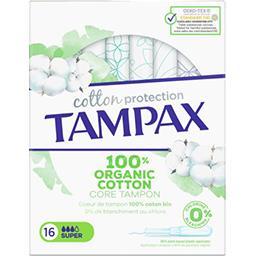 Tampax Tampax Tampons avec applicateur Cotton Protection super La boite de 16 tampons