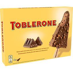 Toblerone Toblerone Glaces goût au chocolat-miel avec morceaux de Toblerone la boite de 4 bâtonnets - 400 ml