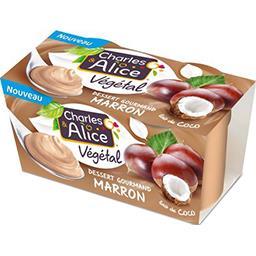 Charles & Alice Charles & Alice Dessert végétal marron et lait de coco les 2 pots de 110 g