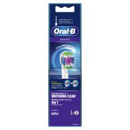 Oral B Oral B Brossette 3d white  avec technologie cleanmaximiser Le paquet de 2 brossettes