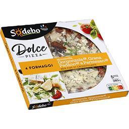Sodeb'O Sodebo Dolce Pizza - Pizza 4 Formaggi la boite de 380 g