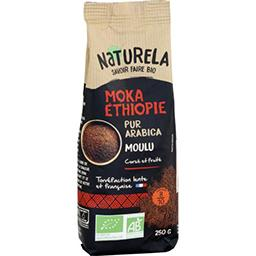 Naturela Naturela Café moulu Moka Ethiopie pur arabica BIO le paquet de 250 g