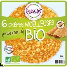 Dessaint Traiteur Dessaint Traiteur Crêpes moelleuses BIO au sucre de canne le sachet de 6 - 300 g